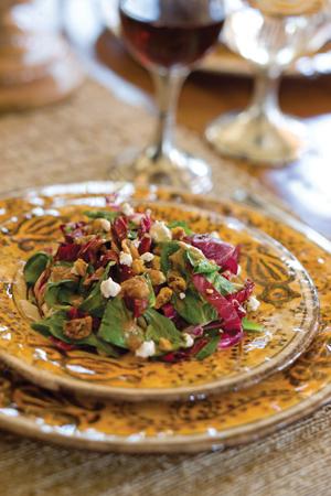 Mâche-Radicchio Salad with Chèvre