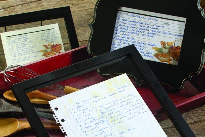 Framed Recipes - The Cottage Journal