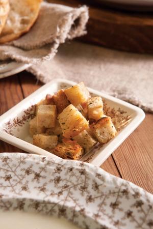 Garlic Butter Croutons