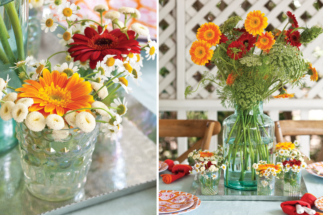 Inexpensive Summer Tablescape