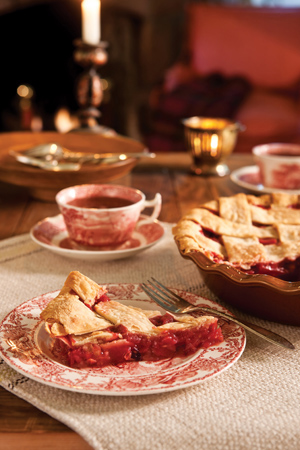 Pear and Cranberry Lattice Pie