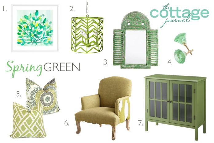 Spring green style ideas the cottage journal Spring cottage magazine