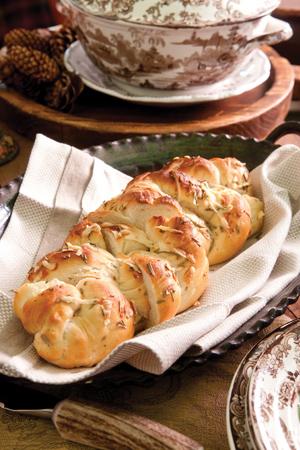 Easy Parmesan-Rosemary Bread Braid