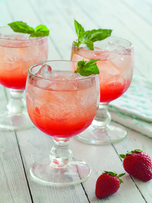 Strawberry-Basil Lemonata