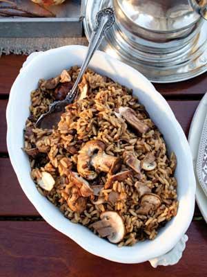 Wild Mushroom Rice Pilaf