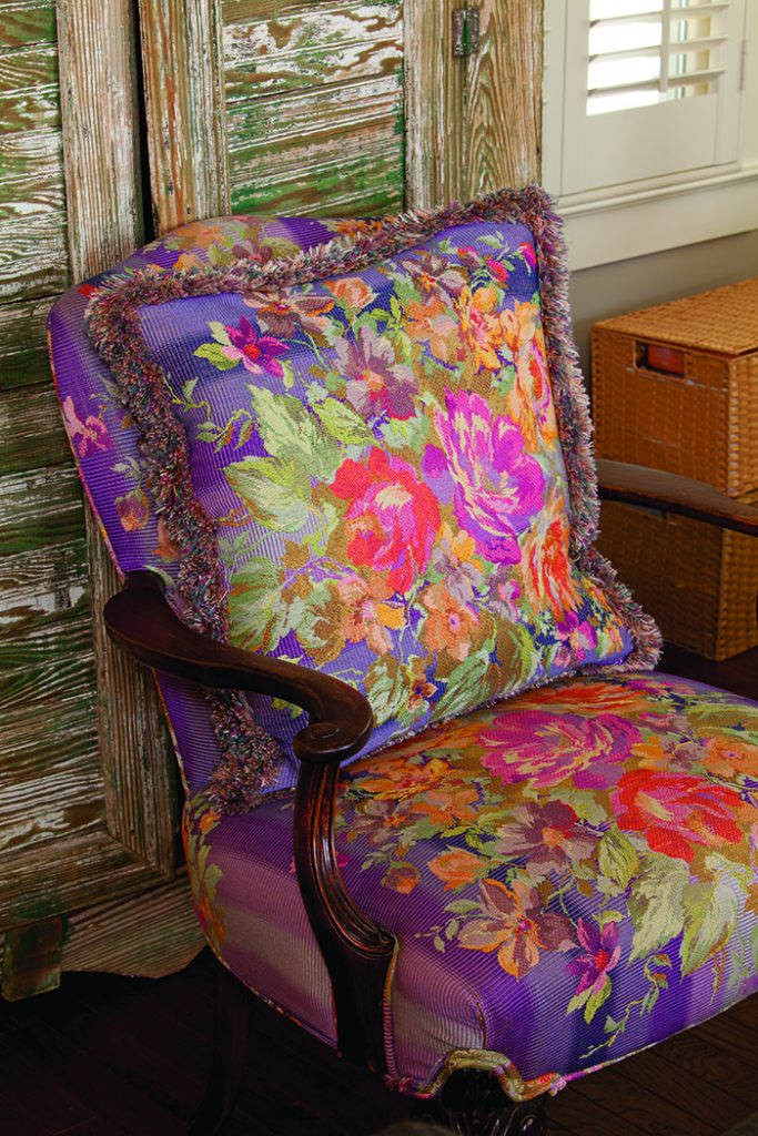 Garden Home purple accent chair