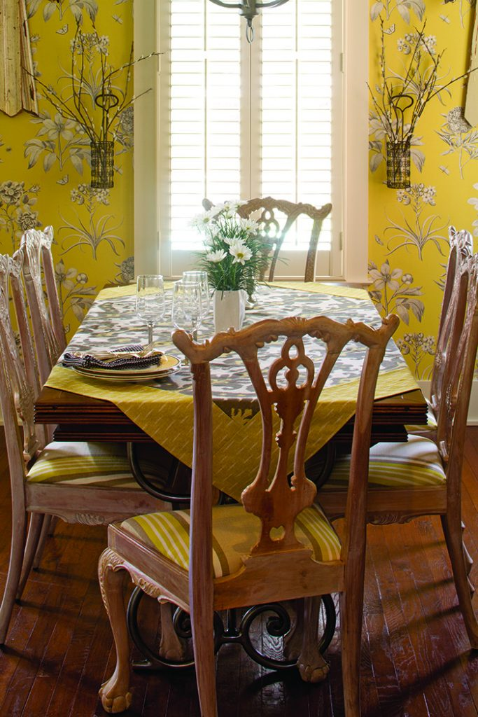 Garden Home yellow dining room