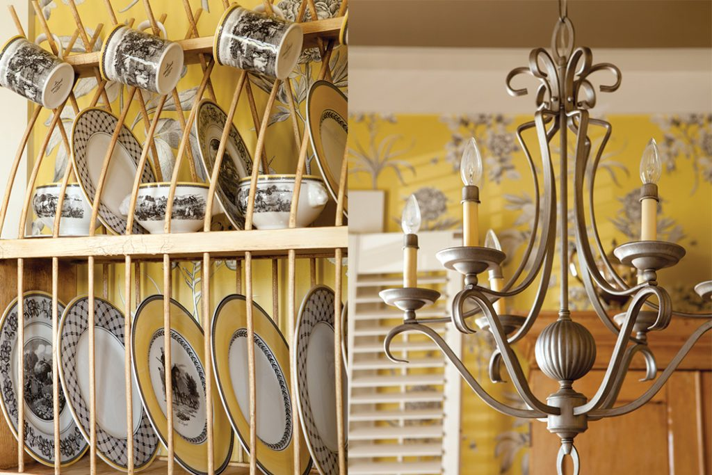 Garden Home yellow dining room accents copy