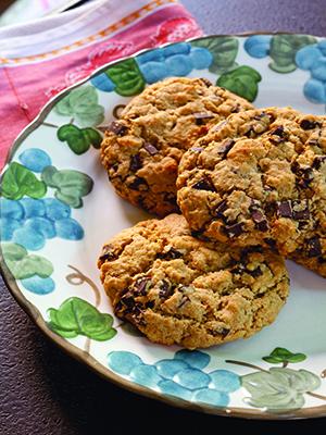 Oatmeal Dark Chocolate Cookies