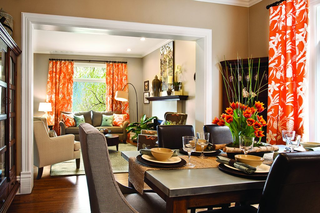 Spring Accent orange Dining Room