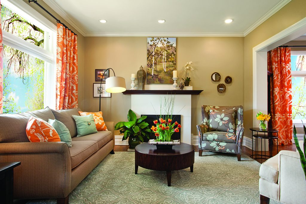 Spring Accent orange Living Room