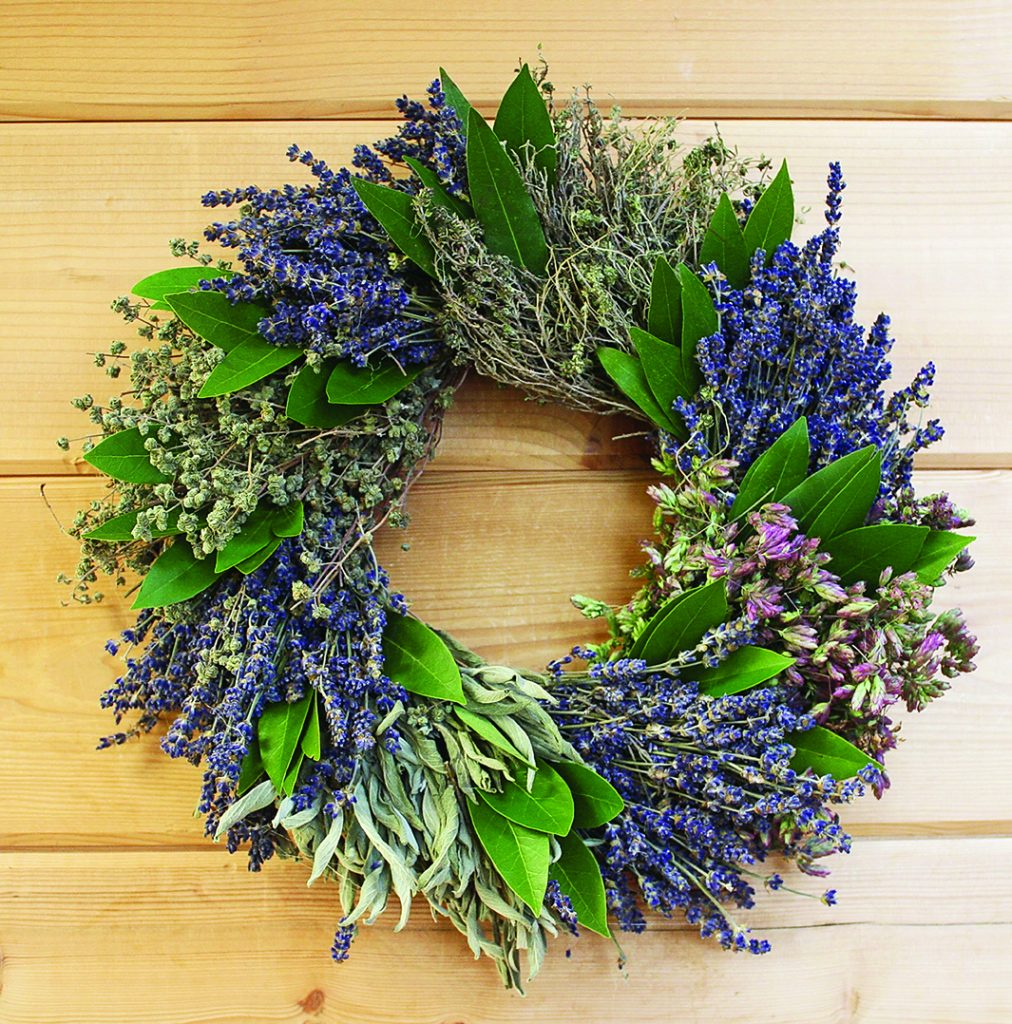 creekside lavender french herb wreath