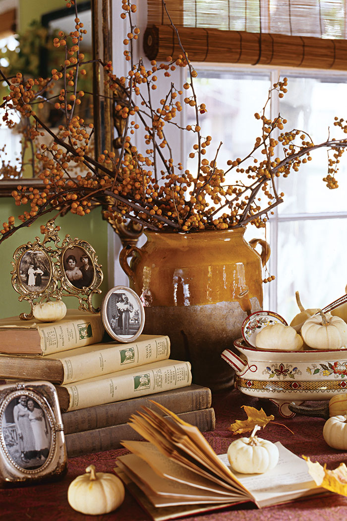 fall autumn decor inspired decorating cottage vignettes country decorations farmhouse journal everything bedrooms homes room vignette thanksgiving kitchen inspiration simple