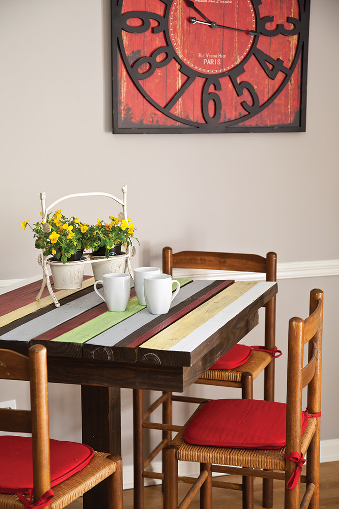 Colorful Breakfast Nook