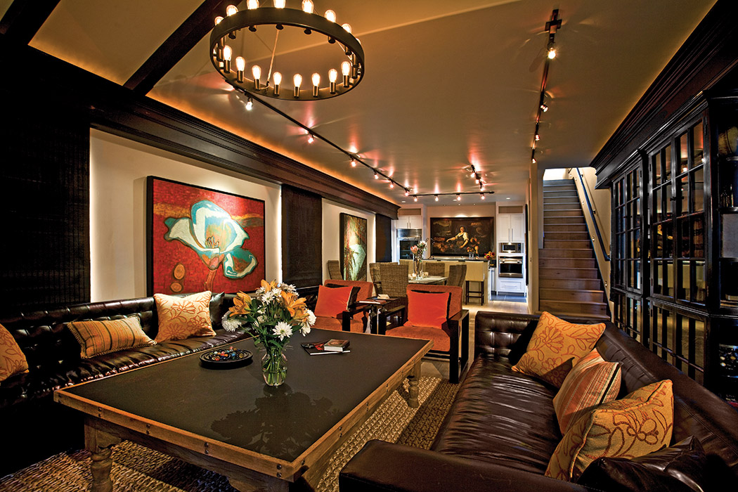 Comfy downstairs den