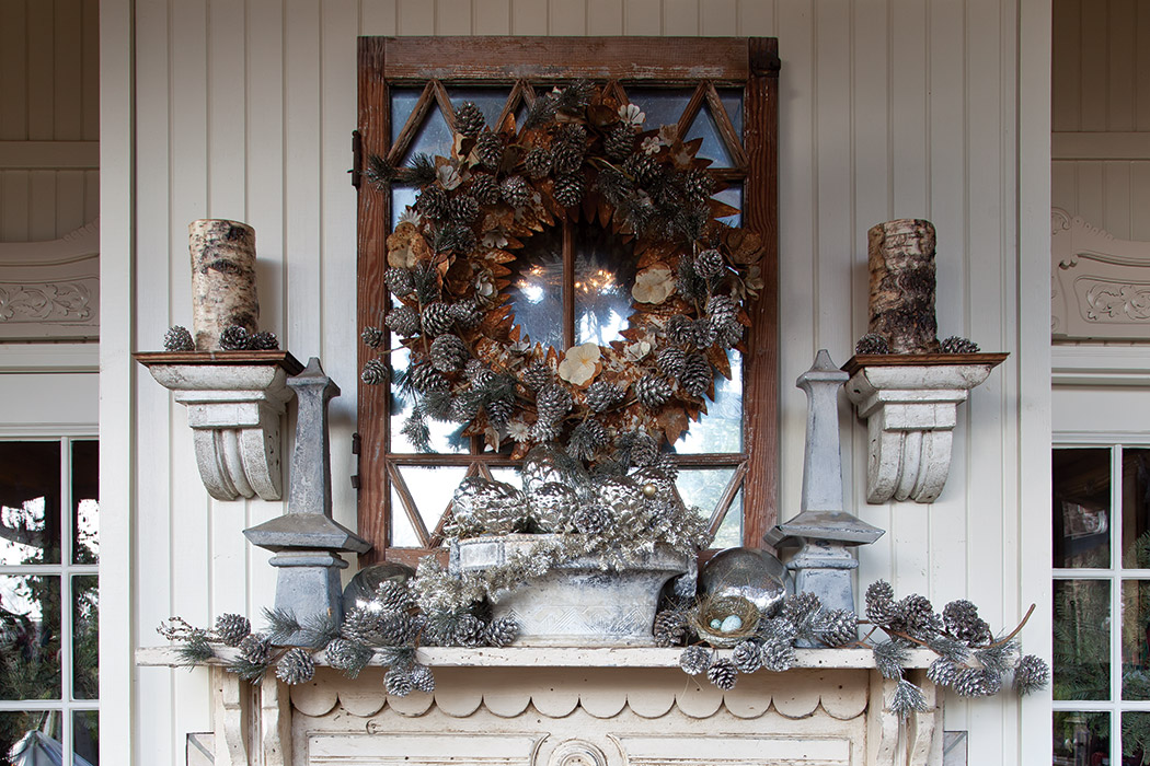 All Pinecone Wreath Detail Inspiration