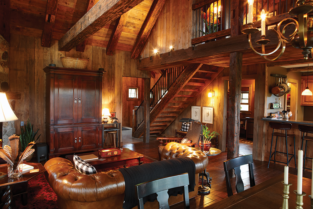 Rustic Mansion Living Room