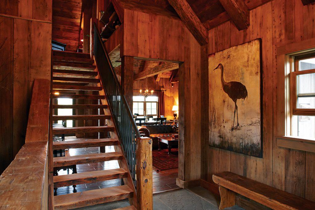 Winter-Cabin-stairway