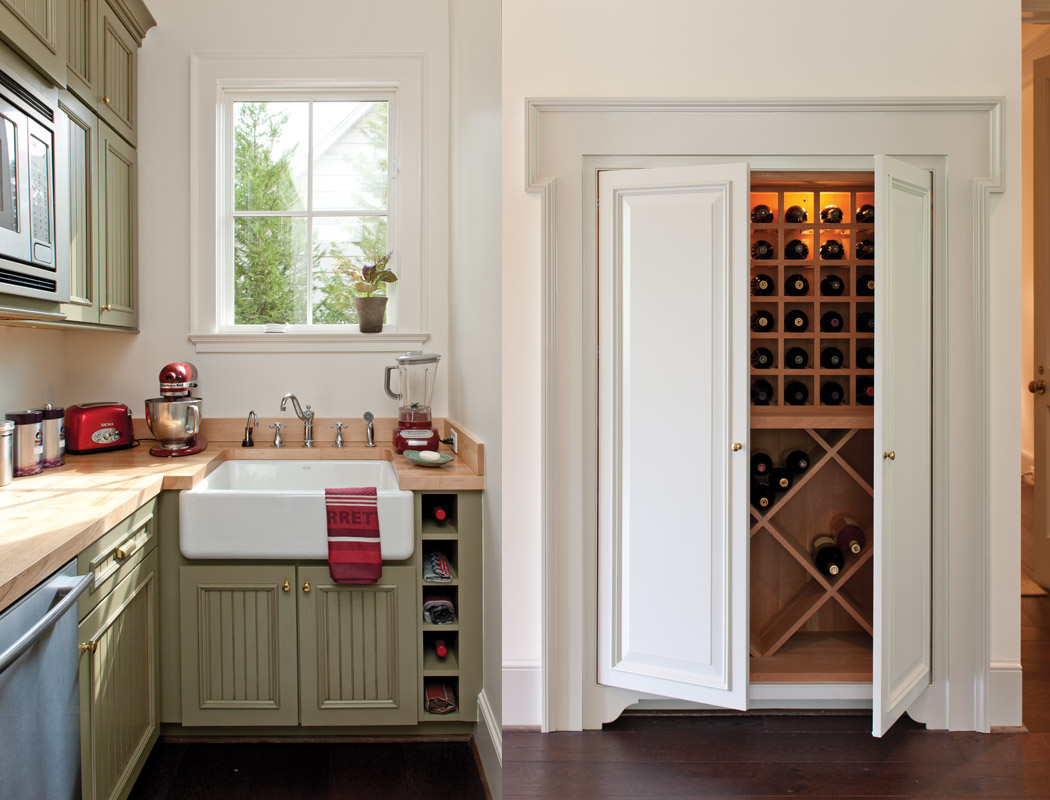 Butler's Pantry and Wine Cabinet