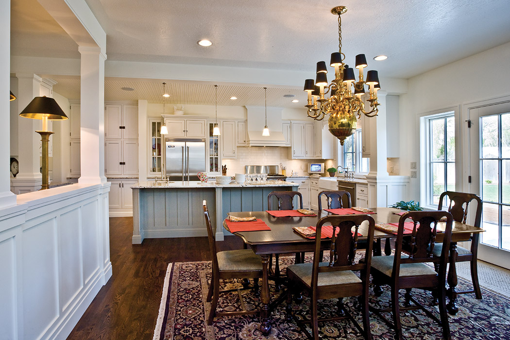 Lovely Kitchen Expansion · Classy Dining Room