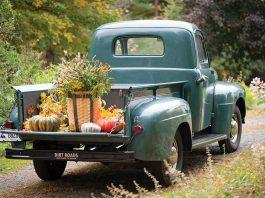 Fall Florals - Antique Truck