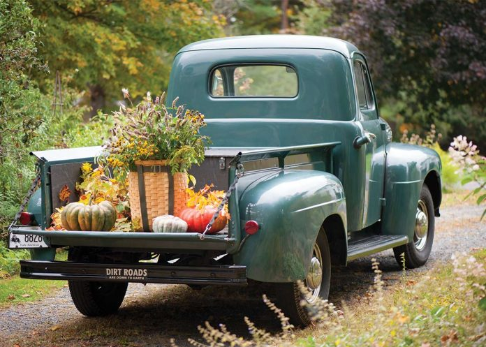 Fall Florals - Antique Truck