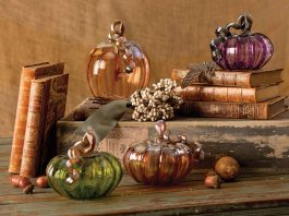 Glass Artist - Pumpkin glass art