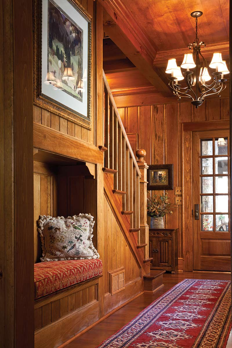 Cottage Staircase with built in nook - The Cottage Journal