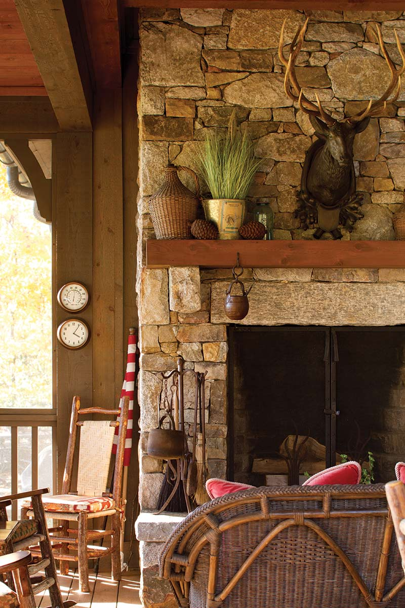 Stone fireplace the cottage journal