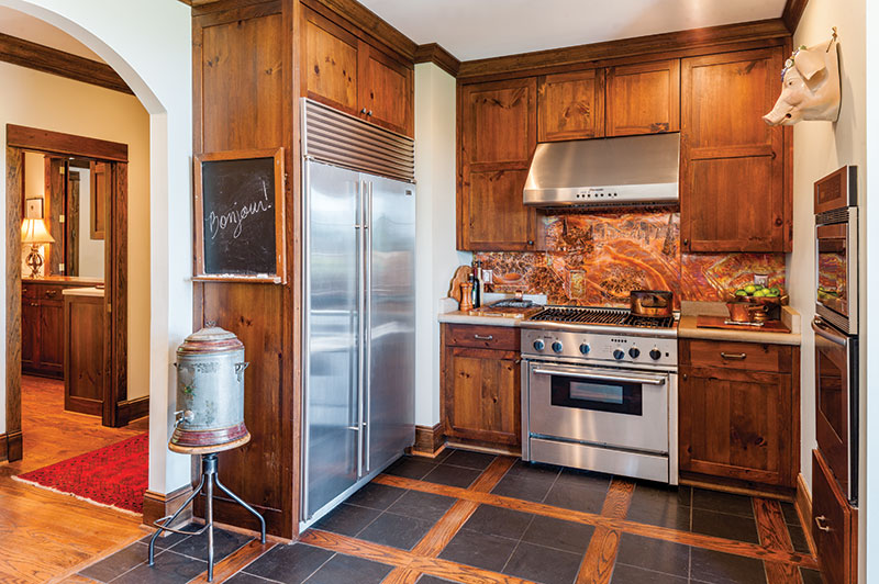 copper backsplash in the kitchen - the cottage journal