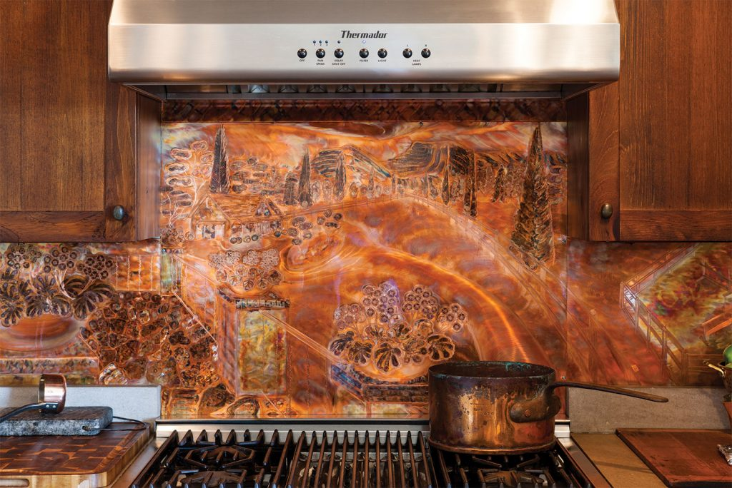 Copper Backsplash in the Kitchen
