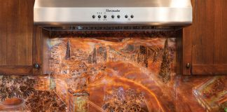 Copper Backsplash in the Kitchen