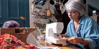 Artist Laurie Swim Sews up a Storm