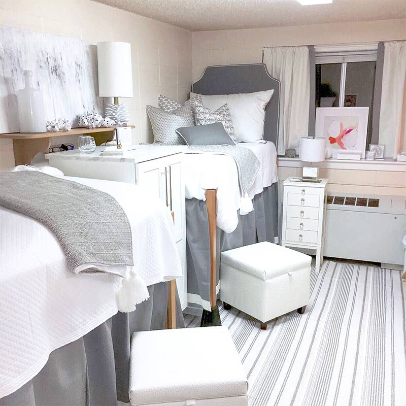 5 cottage style dorm d cor ideas we love page 2 of 2 - Dorm room bedding ideas ...