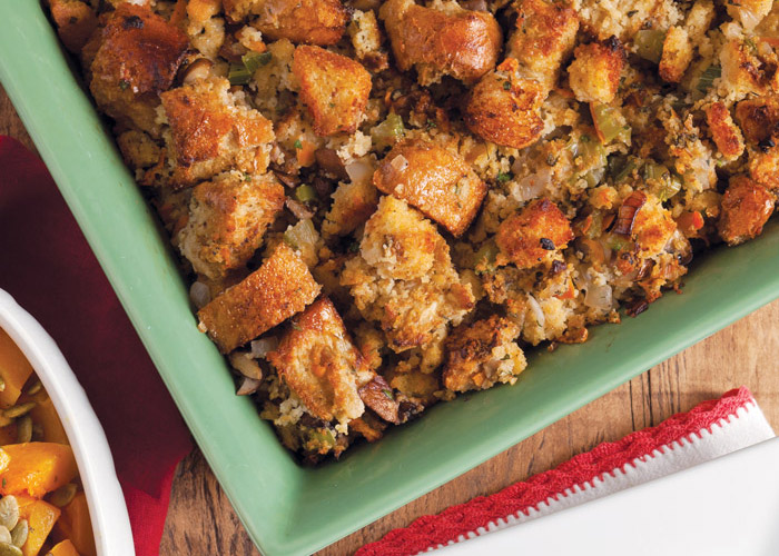 Wild Mushroom and Cornbread Dressing