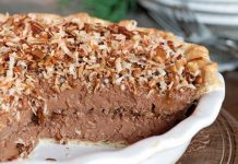 Frozen German Chocolate Pie