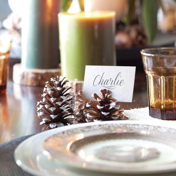 Nature-Inspired Place Setting