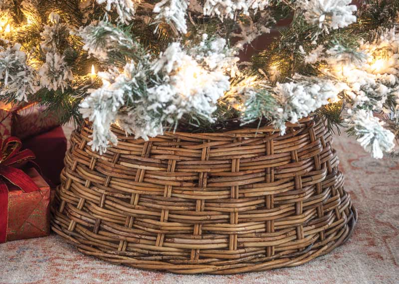 Mistletoe Christmas Tree Cover and Area Rug