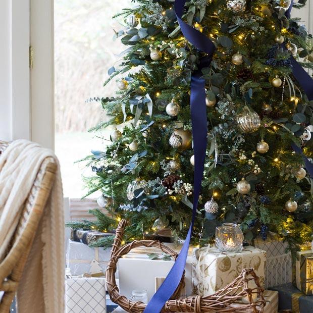 Zevy Joy Navy and Gold Tree