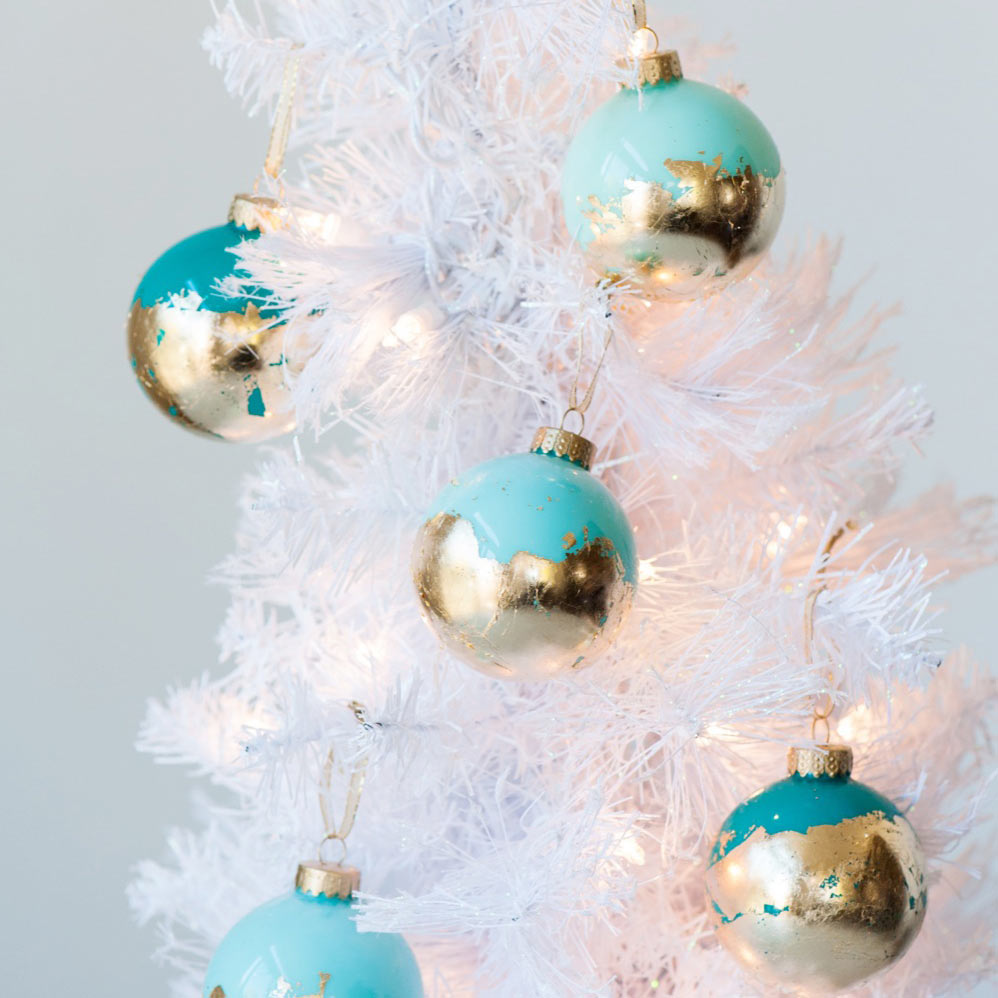 The Sweetest Occasion Gold Leaf Painted Ornaments