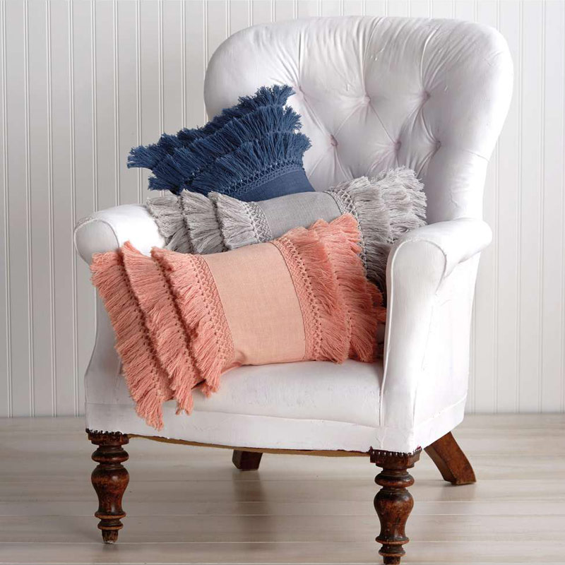 Fringe Blush Pillow