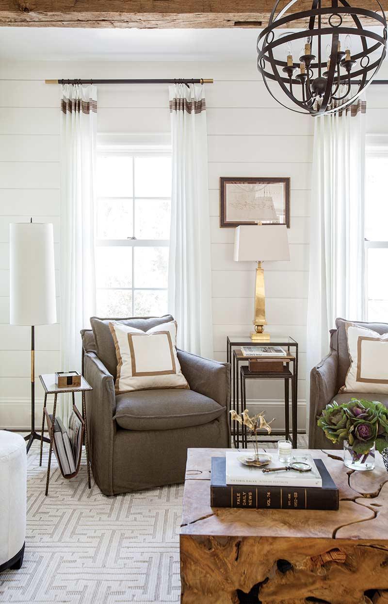 Matching gray chairs