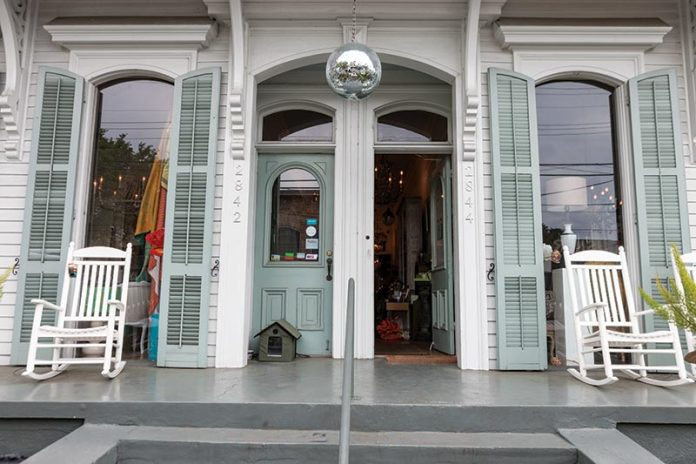 Front entrance to Perch in New Orleans