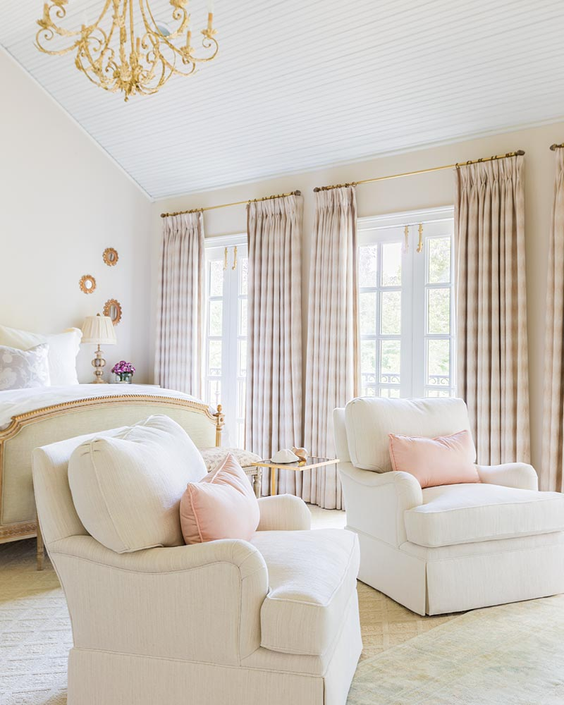 Neutral and bright master bedroom