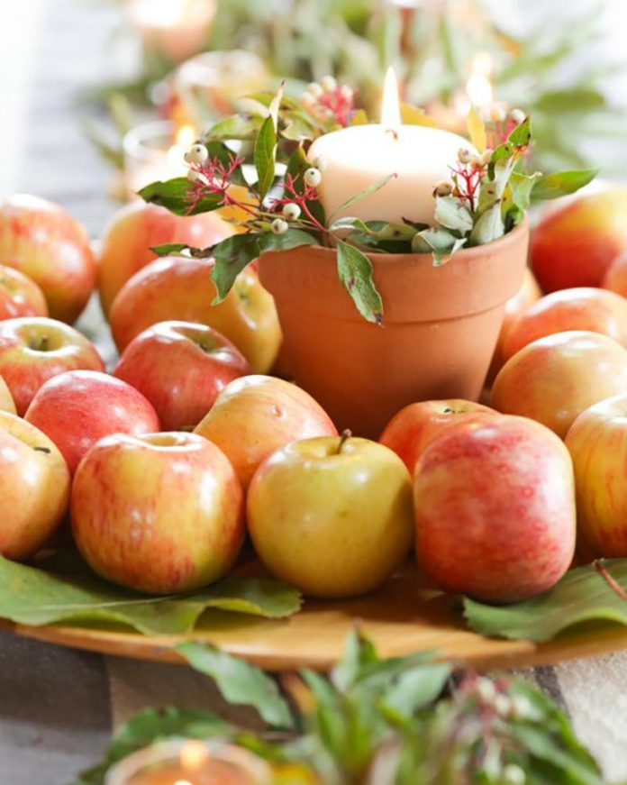autumn decor - apples