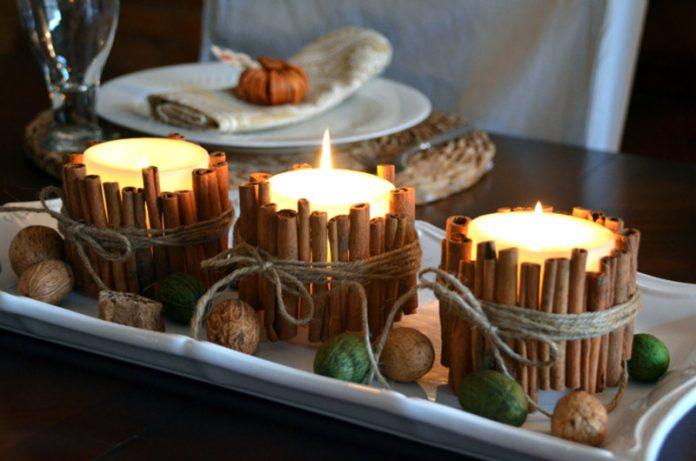 autumn decor: cinnamon sticks