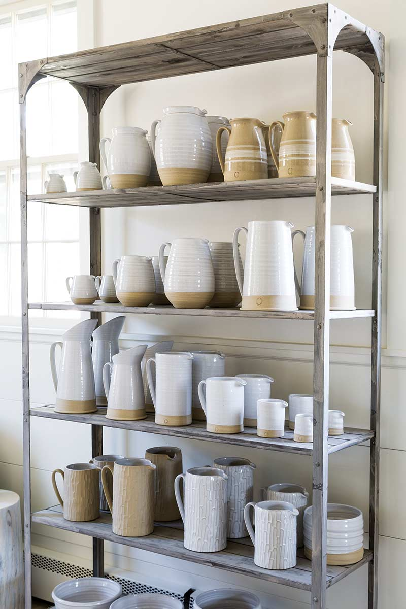 Farmhouse Pottery display