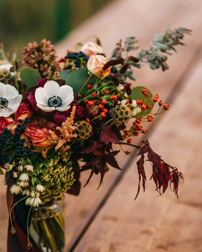 autumn decor - flowers