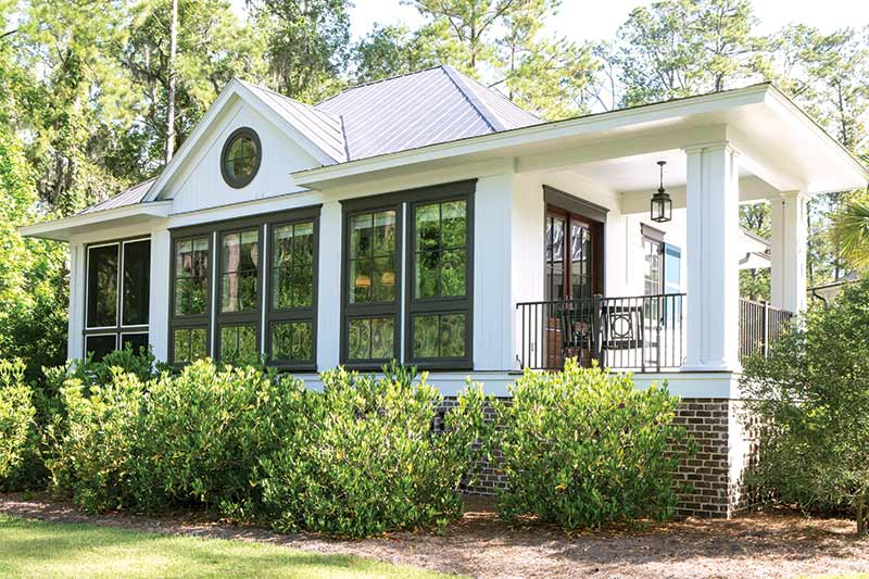 South Carolina guest cottage white exterior