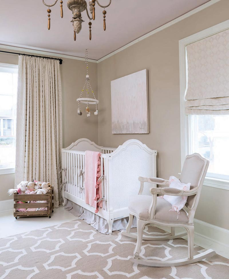 Soft pink colored nursery